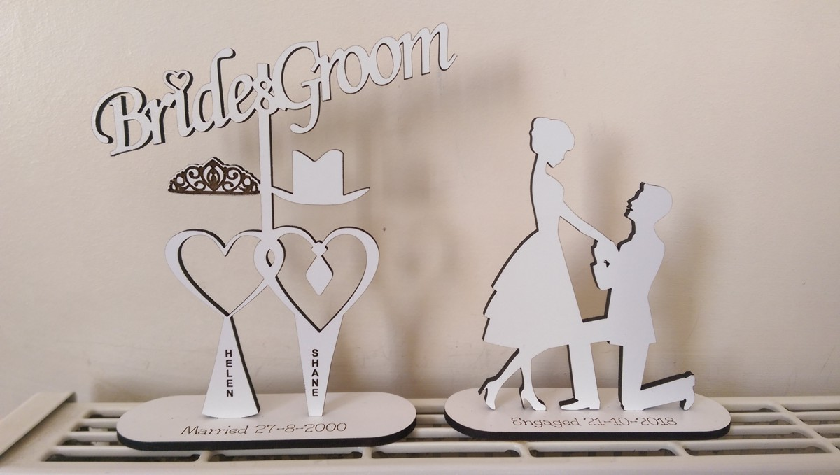 Laser cut Balloon Weight, Engagement Marriage, Married Cute