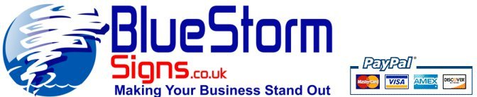 Bluestorm Signs understands that business identity is vital.